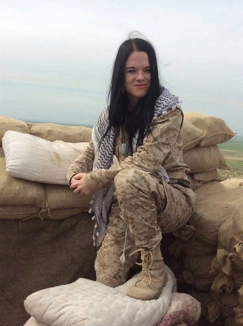 Marketa Vselichova is seen in YPG camp. (Takvim File Photo)