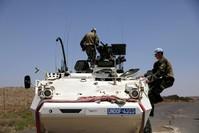 قوات حفظ السلام الأممية العاملة في منطقة مرتفعات الجولان (رويترز)