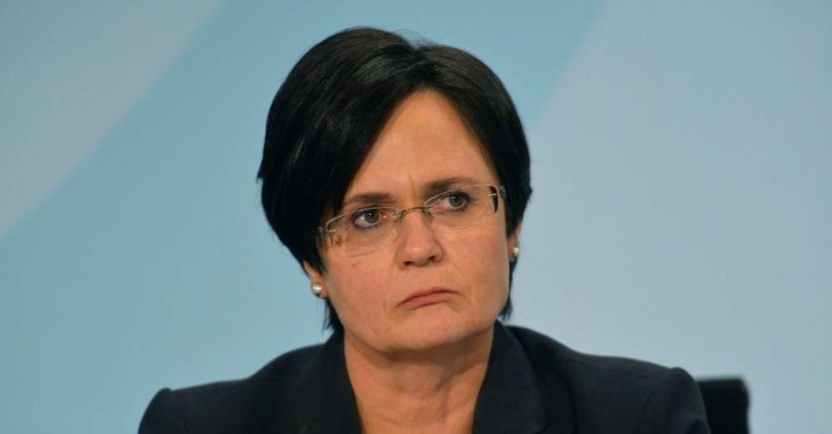 Christine Lieberknecht, Thuringia's former state premiere, reacts during a meeting, Berlin, Nov. 2, 2012. (AFP Photo)