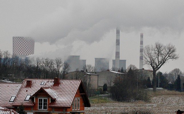 In this Nov. 21, 2018 photo smoke billows from chimney stacks of the heating and power plant in Bedzin, near Katowice, Poland. (AP Photo)