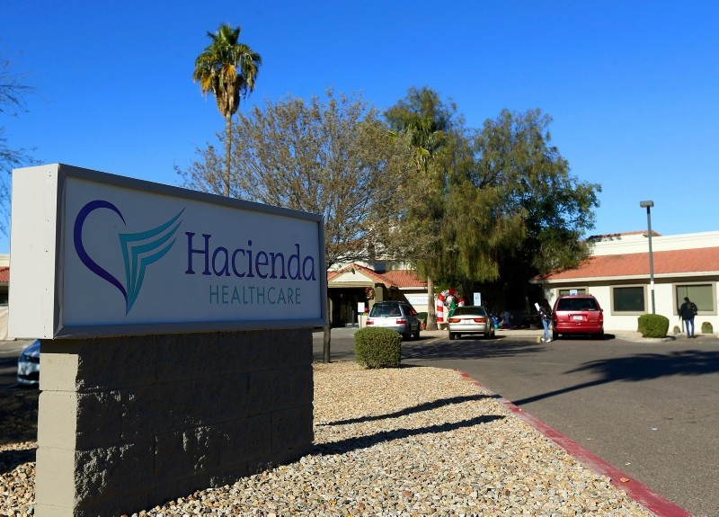 This Friday, Jan. 4, 2019, photo shows Hacienda HealthCare in Phoenix. (AP Photo)