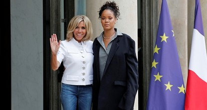 pFrench President Emmanuel Macron continued to reach for the stars Wednesday, hosting R&B icon Rihanna for what she called incredible talks at the presidential palace in Paris two days after...