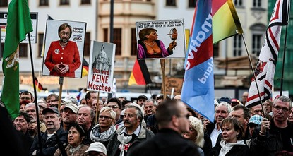 pIn the shadows of a Dresden church, hundreds of Alternative for Germany party members rallied with anti-Islam protesters, counting down the days to a vote set to make the AfD the first far-right...