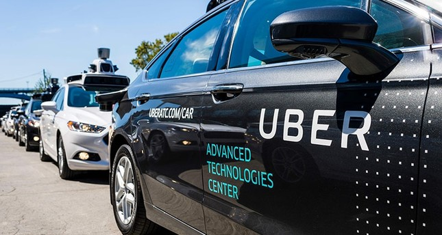In this file photo taken on Sept. 13, 2016, pilot models of the Uber self-driving car is displayed at the Uber Advanced Technologies Center in Pittsburgh, Penn. (AFP Photo)