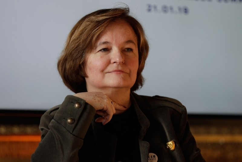 European Affairs Minister Nathalie Loiseau takes part in the second edition of the ,Choose France, summit, on January 21, 2019 in Versailles. (AFP Photo)