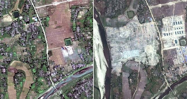 Myanmar using bulldozers to erase Rohingya villages