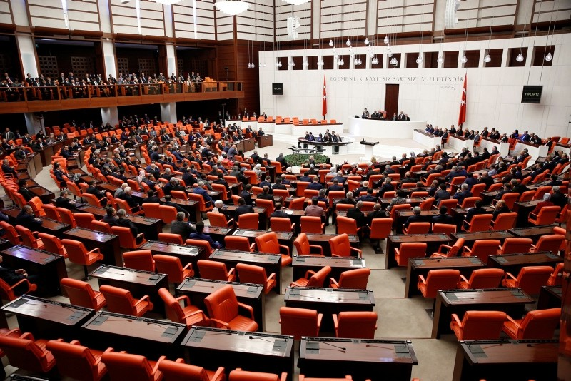 A general view of the general assembly hall of the Grand National Assembly of Turkey. (File Photo)