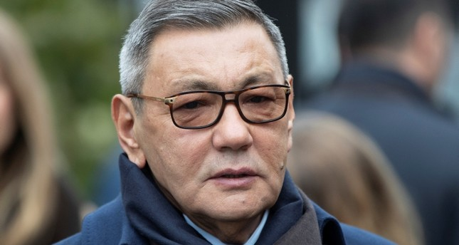 Interim President of the International Boxing Association (AIBA) Gafur Rakhimov attends a wreath laying ceremony at the Tomb of the Unknown Soldier in Moscow, Russia, Thursday, Nov.1, 2018. (AP Photo)