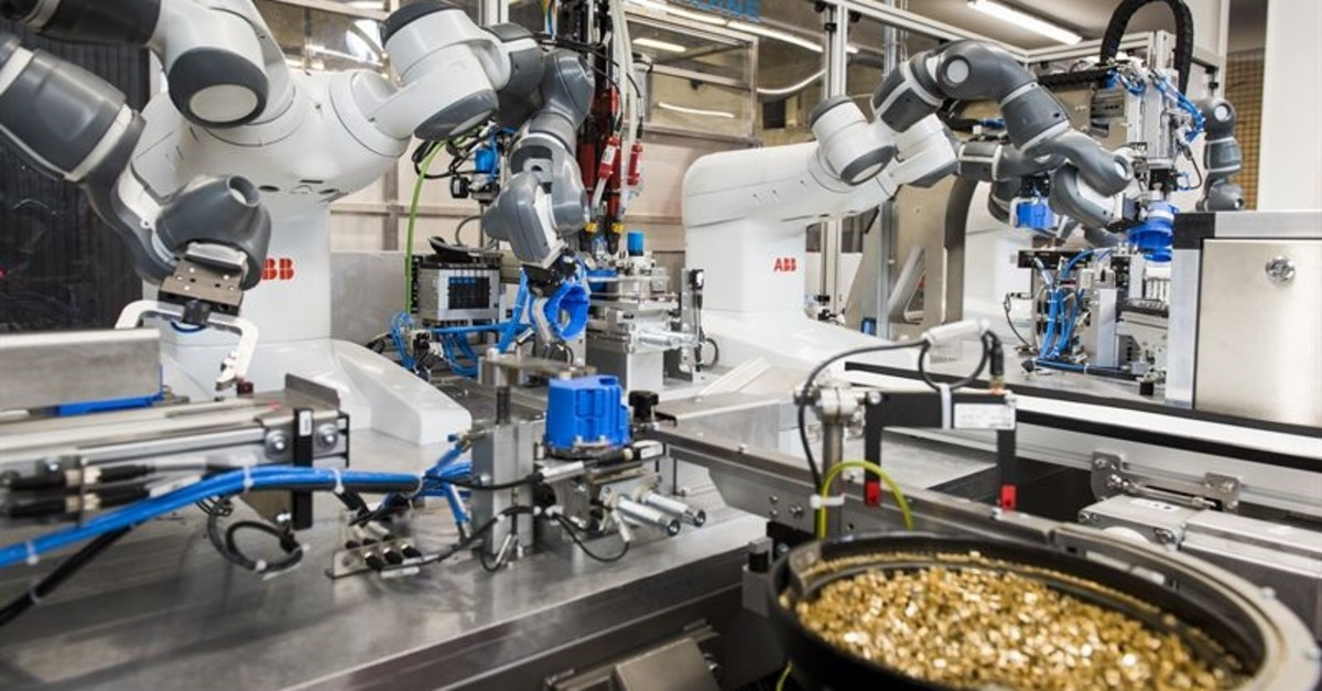 Latest generation of industrial robots have the ability to learn but is not literally AI.