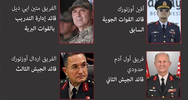 إنفوجراف.. تعرف على أبرز القادة المتورطين في محاولة الانقلاب بتركيا ووظائفهم داخل الجيش