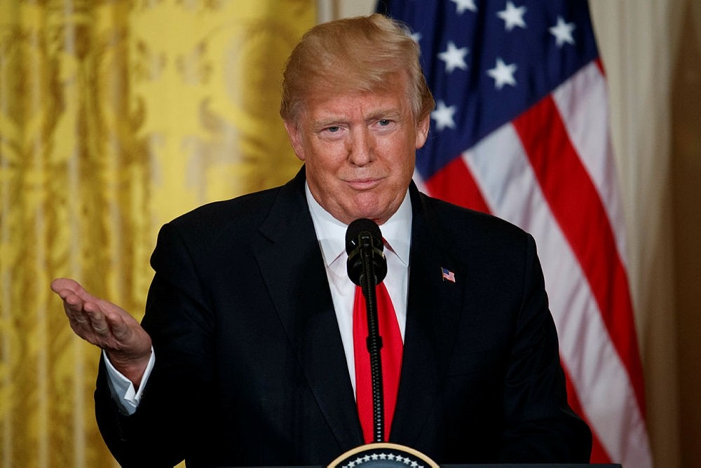 President Donald Trump speaks during a news conference with Norwegian Prime Minister Erna Solberg in the East Room of the White House, Wednesday, Jan. 10, 2018, in Washington. (AP Photo)