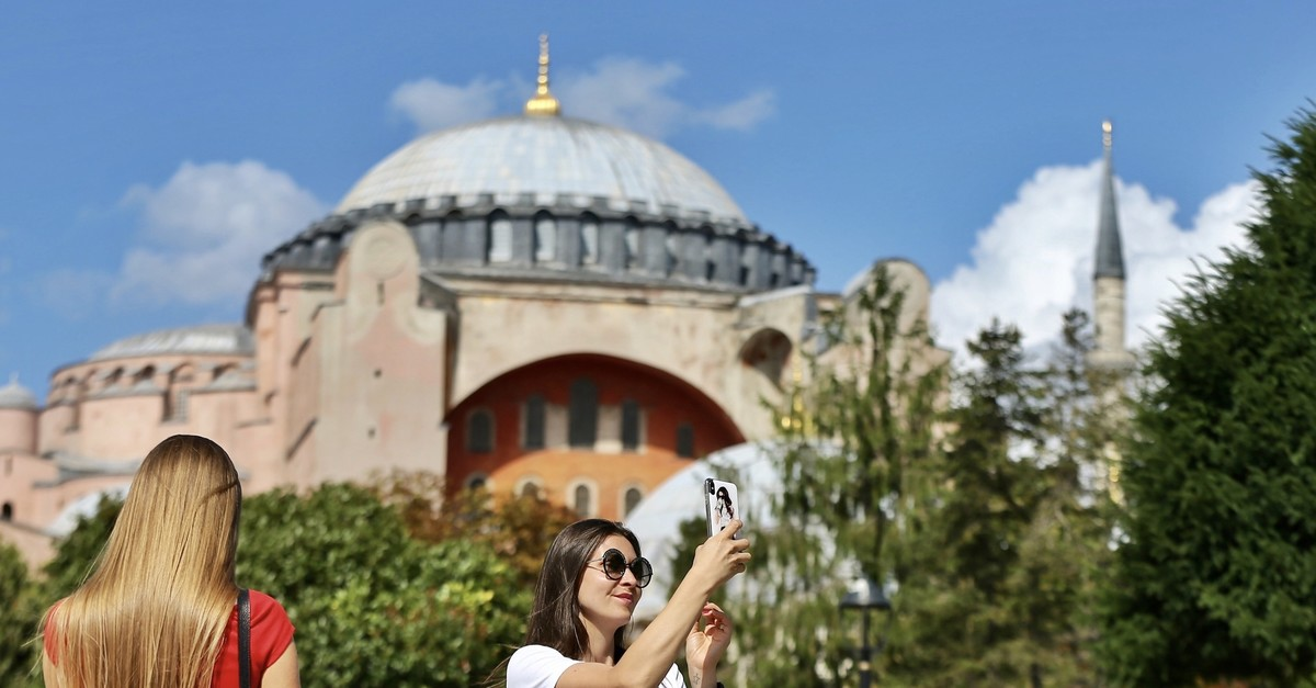 Tourists in Istanbulu2019s historic Fatih district.