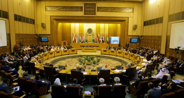 A general view of the Arab foreign ministers annual meeting at Arab League headquarters in Cairo, Egypt.