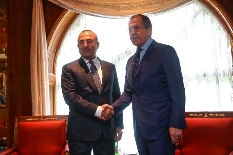 A handout picture released by the Russian Foreign Ministry shows Russian Foreign Minister Sergei Lavrov (R) meeting with Turkish Foreign Minister Mevlu00fct u00c7avuu015fou011flu (L) in Sochi, Russia, 01 July 2016. (EPA Photo)