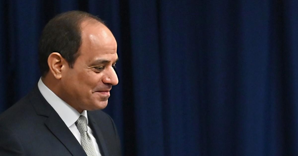 Egypt's President Abdel-Fattah el-Sissi meets with U.N. Secretary-General Antonio Guterres, New York, Sept. 25, 2019.