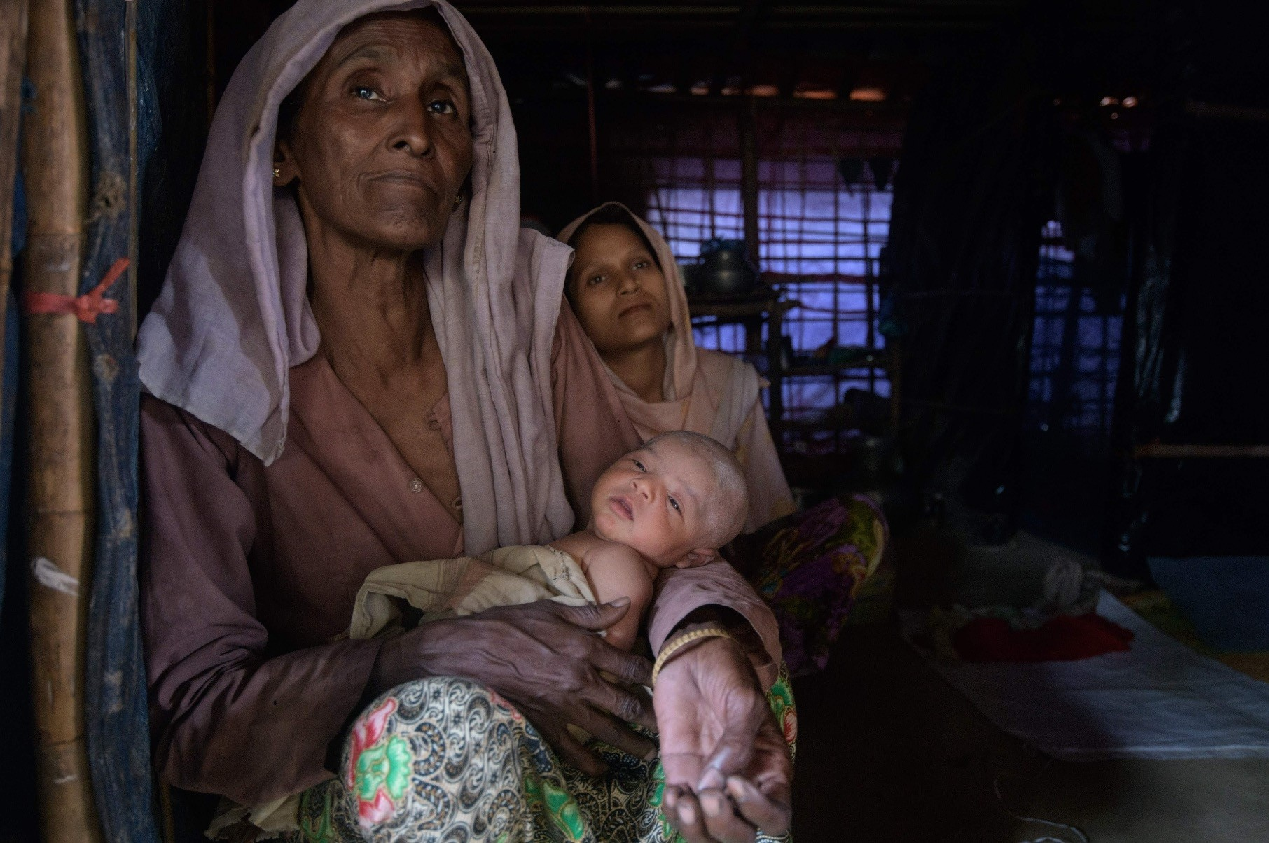 Rohingya refugees at the Thangkhali refugee camp near Coxu2019s Bazar, Aug. 11.