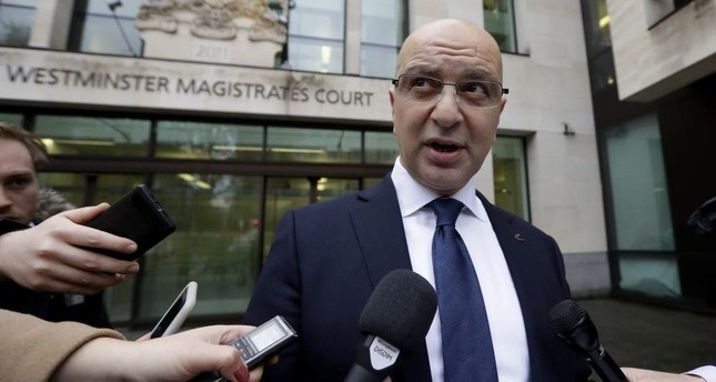 Akın İpek speaks to media after a U.K. court rejects his extradition to Turkey, London, Nov. 28, 2018. AP Photo