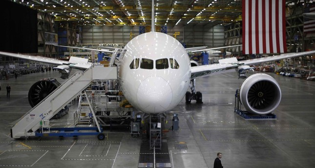 A Boeing 787 Dreamliner is seen under construction at the Boeing facility in Everett, Washington in this February 17, 2012 file photo.