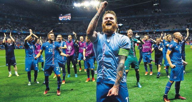 As England's players slumped onto the grass after the final whistle, Iceland's substitutes and backroom staff charged onto the pitch as if they'd won the final.
