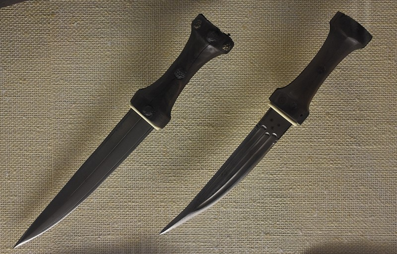 Photo shows daggers used by the Ottoman army.