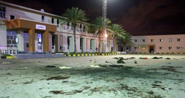 At least 30 people were killed and dozens injured in an airstrike on a military school in the Libyan capital Tripoli, Jan. 4, 2020. AFP