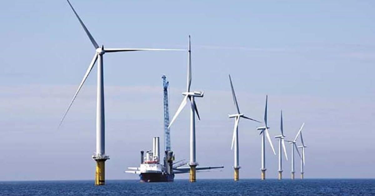 The Horns Reef 2 Windpark in Denmark.