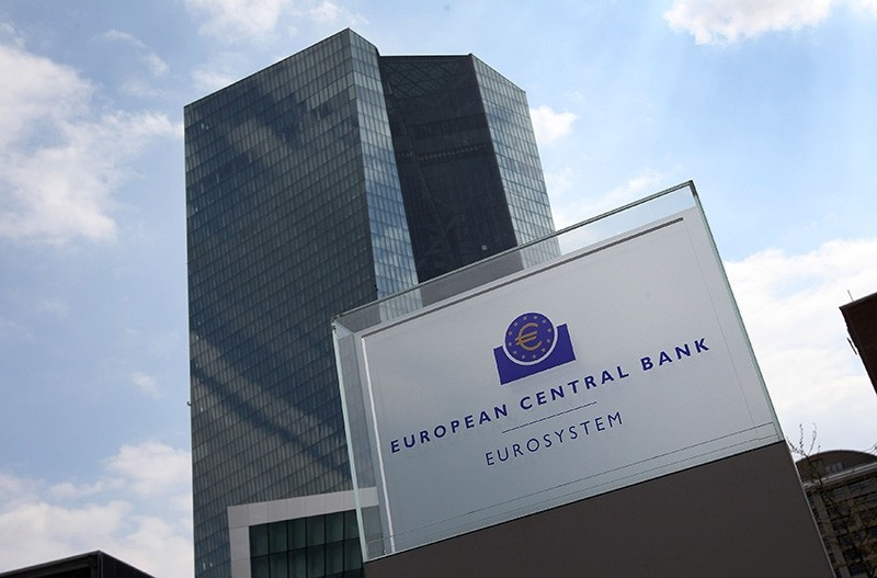 This file photo taken on April 27, 2017 shows the European Central Bank (ECB), in Frankfurt am Main, western Germany, on April 27, 2017. (AFP Photo)