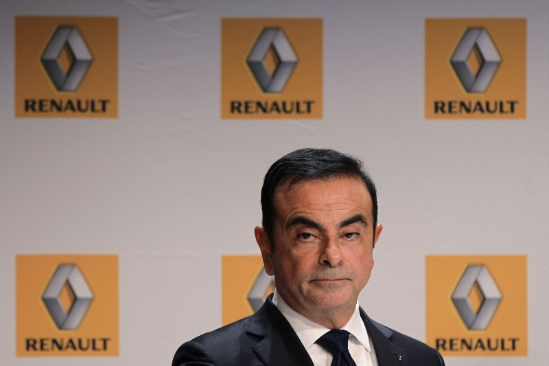 This file photo taken on September 30, 2014 shows French Renault car maker CEO Carlos Ghosn giving a press conference during the inauguration of a new production plant in Sandouville. (AFP Photo)