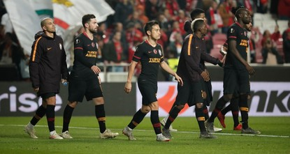 Galatasaray eliminated from UEFA Europa League upon 2-1 loss to Benfica