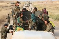 مسلحون من ي ب ك الإرهابي شمال سوريا