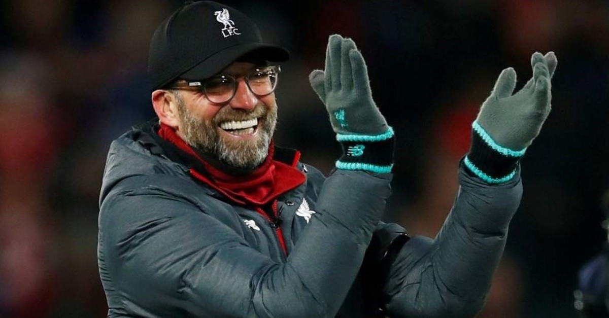 Liverpool manager Juergen Klopp celebrates after the match against Brighton & Hove Albion, Liverpool, Nov. 30, 2019. (REUTERS Photo)