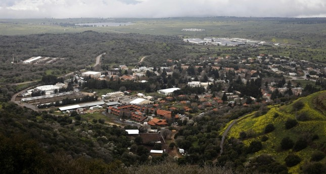 Picture taken on March 25 2019, shows a general view of the Israeli settlement of Merom Golan in the Israeli-annexed Golan Heights (AFP Photo)
