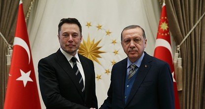 pPresident Recep Tayyip Erdoğan met with Tesla CEO Elon Musk Wednesday, to discuss a number of topics, including an agreement with Airbus on TÜRKSAT 5A and 5B satellites, as well as technological...