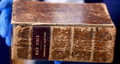 Stolen 400-year-old Bible back home in US after being found in Netherlands