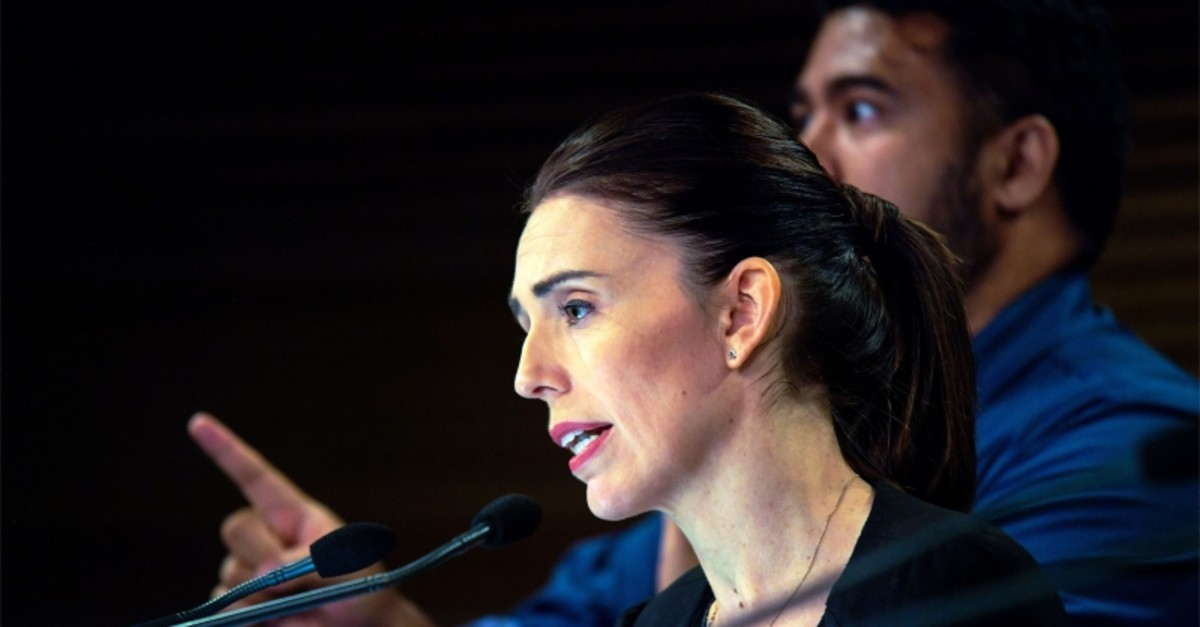 New Zealand Prime Minister Jacinda Ardern speaks during a Post Cabinet media press conference at Parliament in Wellington on March 18, 2019 (AFP Photo)