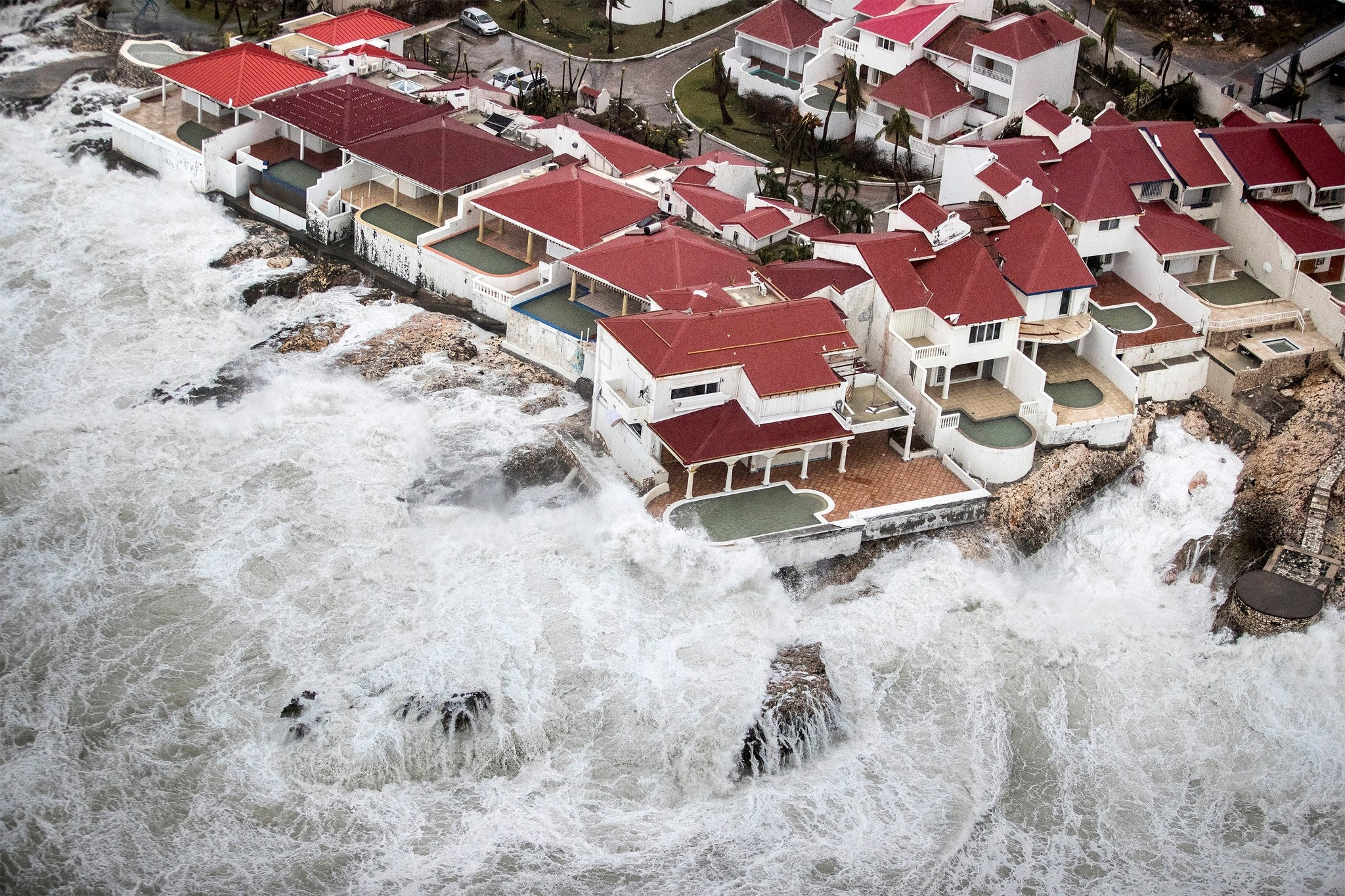 View of the aftermath of Hurricane Irma on Sint Maarten Dutch part of Saint Martin island in the Caribbean September 6, 2017. (REUTERS Photo)