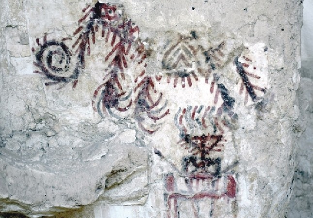 Drawings on the wall of ancient palace shed light on the regional history.