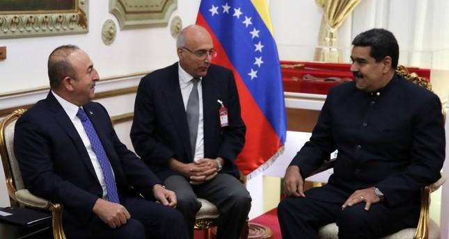 Turkish FM meets with high-level Venezuelan officials
