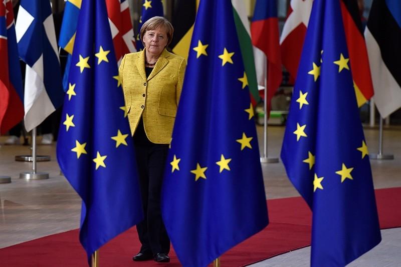 German Chancellor Angela Merkel arrives to attend the EU summit in Brussels, Belgium, December 14, 2017. (Reuters)