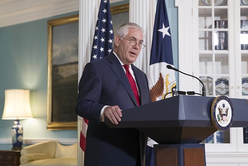 US Secretary of State Rex Tillerson delivers remarks at the State Department in Washington, DC, USA, 04 October 2017 (EPA Photo)