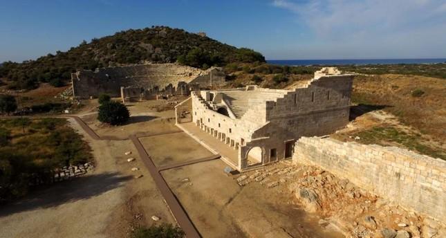 The amphitheater in Patara. DHA Photo
