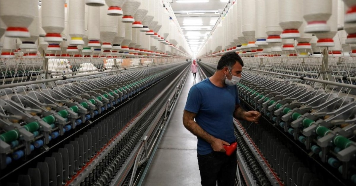 u2022 A worker makes a regular check on machines in a textile factory in Diyarbaku0131r, March 21, 2017. (Reuters Photo)