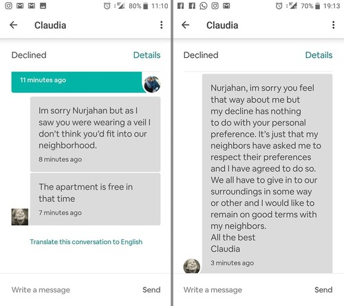Airbnb bans host who told hijab-wearing woman she wouldn't 'fit into' neighborhood