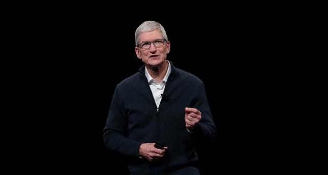 Apple CEO Tim Cook speaks during an Apple launch event in the Brooklyn borough of New York, U.S., Oct. 30, 2018. (Reuters Photo)