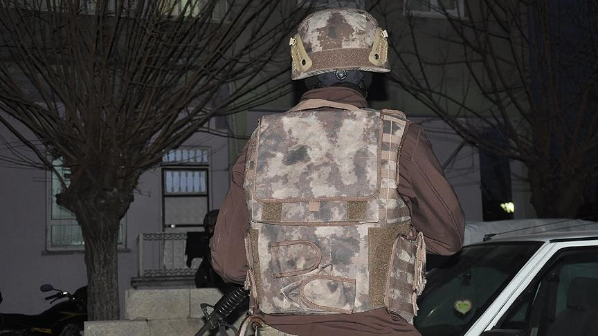 A Turkish security officer while on duty (AA Photo)