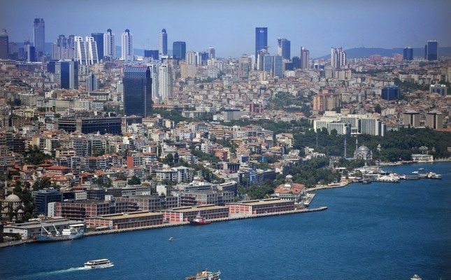 An aerial view of Istanbul, Turkey's financial capital that attracts the highest number of foreign investors in the real estate sector.