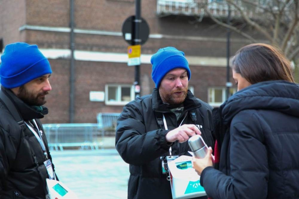 TAP London is offering work for the homeless as charity fundraisers, all without any cash changing hands.