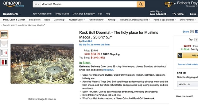 Amazon removes doormats with religious images including Kaaba after calls for boycott