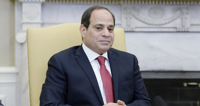 President Abdel Fattah Al Sisi of Egypt looks on in the Oval Office of White House during a meeting with US President Donald J. Trump in Washington. EPA Photo