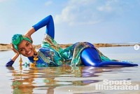 Sports Illustrated features first burkini-clad model